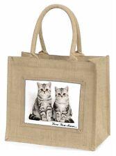 Silver Tabby 'Love You Mum' Large Natural Jute Shopping Bag Christ, AC-124lymBLN
