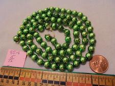 "Christmas Garland Mercury Glass Green 27"" Long 5/16"" Beads 8518 Vintage"