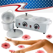 USA Double Pot Wax Machine Waxing Warmer Salon Hot Paraffin Electric Wax Heater