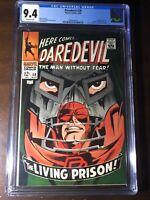 Daredevil #38 (1968) - Doctor Doom Cover!!! - CGC 9.4!!! - Fantastic Four App!!!