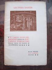 1904 DIVINA COMMEDIA CANTO XXXII PARADISO LETTO DA RAFFAELLO FORNACIARI DA LUCCA