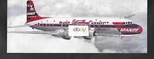 BRANIFF INTERNATIONAL AIRWAYS 1949 DC-6 EL CONQUISTADOR JUMBO SIZE POSTCARD