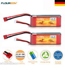 2x 3S 25C 11.1V 2200mAh Lipo Akku Batterie Deans für RC Auto Hubschrauber Hobby