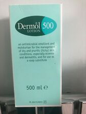 Dermol Lotion 500 Moisturiser and Soap Substitute Antimicrobial Emollient 500 ml