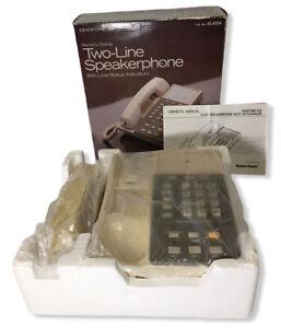 VTG Radio Shack Duofone 210 Model 43-615A Two-Line Speakerphone NO HANDSET CORD
