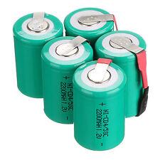 POPULAR 5 piezas NiCd 4/5 subc SUB C 1.2v 2200mAh batería recargable