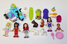 Lego FRIENDS - Minifigures, Animals, Accessories Lot - Dog Skateboard Motorcycle