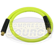 "New Flexzilla 1/2"" x 4' FT Air Hose Whip With 3/8' MNPT Swivel HFZ1204YW3S"
