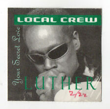 Luther Vandross 1997 Your Secret Love Tour Local Crew Satin Backstage Pass