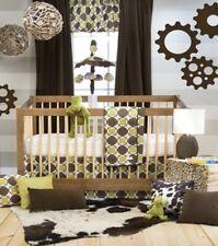 $191 Glenna Jean Urban Cowboy 3pc Crib Bedding Set Sheet Green Brown New