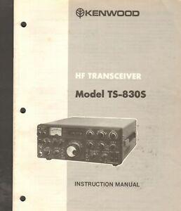 Kenwood HF Transceiver Model TS-830S Instruction Manual Vintage (original)
