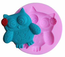 Owl with flower Mini Silicone Mold for Fondant, Gum Paste, Chocolate, Crafts NEW