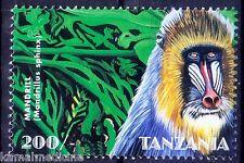 Tanzania 1998 MNH, Mandrill, Monkeys, Wild Animals