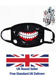 UK Seller Japan Manga Tokyo Ghoul Ken Kaneki Face Mask Washable Reusable Cotton