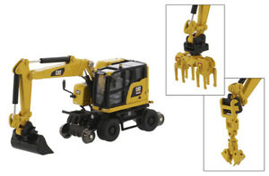 die cast Masters Caterpillar M323F Railroad wheeled Excavator 1/87 85612