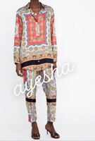 Zara Scarf Print Pareo Trousers and Top Co Ord Set Bloggers fave XS SOLD OUT