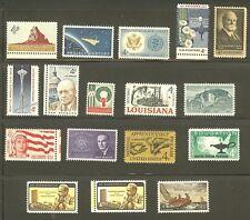 U.S. 1962 Commemorative Year Set 17 MNH Stamps