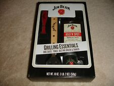 Jim Beam Grilling Essentials Gift Set - Bbq Sauce -Tong -Brush -Shaker Exp 2017