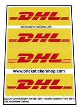 Pre-Cut Alternative Stickers for Lego® MAERSK Train 10219 - DHL Containers