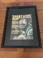 1966 Sport Magazine NEW YORK Jets JOE NAMATH 1st Cover TROUBLES AND TRIUMPHS