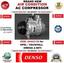 DENSO AIR CONDIZIONE AC COMPRESSORE OEM: 24443138 Per Opel Vauxhall Omega 2.5DTi