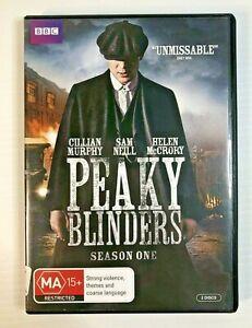 PEAKY BLINDERS Season One 1 - Region 4 DVD - Cullian Murphy, Sam Neill - BBC