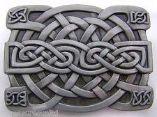 BELT BUCKLES metal symbols accessories rectangle IRISH CELTIC KNOT buckle NWOT!