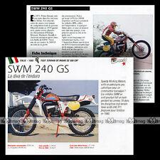 SWM GS 240 TF1 ENDURO Modèle 1980 - Fiche Moto MRC