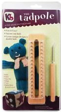 "KB Wood Tadpole 6"" Knitting Board Loom with hook and 7 patterns KB3517"