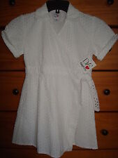 DVF Gap Kids White Eyelet Wrap Dress Size 8 Medium NWT