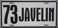1973 73 JAVELIN METAL LICENSE PLATE AMERICAN MOTORS AMC AMX 390