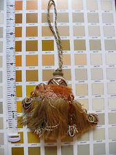 Kravet Couture Key Tassel W/Beads Peche Pink Gold Msrp$165! T30293.12