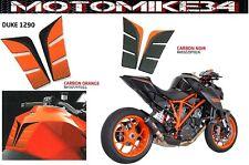 Protection de reservoir Moto KTM SuperDuke 1290 14-15-16 PAD CARBON / ORANGE