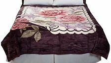 Soft Heavy Weighted Rose Thick Plush Mink Autism Sensory Blanket 8 Pound lb