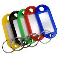 Key Ring Tags Plastic ID Tags Name Label Key Fob Tag Assorted Colours