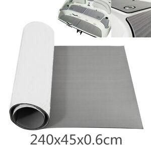 1x Gray EVA Foam Gray Teak Mat Carpet Car RV Trunk Flooring Accessories 240x45cm