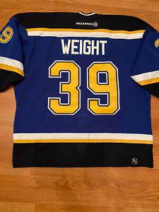 Authentic DOUG WEIGHT St Louis Blues PRO game Jersey KOHO size 56