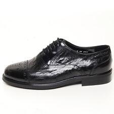 Men's black leather quarter brogues wrinkle shape dress shoes big size shoes