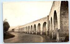 Mexico Acueducto De Morelia Michoacan Ruiz RPPC Real Photo Vintage Postcard A69
