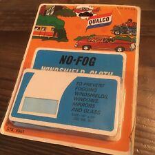 Vintage Qualco No Fog Windshield Cloth Nos Made in Usa