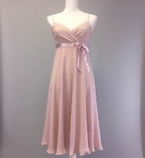Express Womens Dress Formal Pink 100% Silk Size 4 Spaghetti Strap Flare A-line