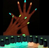 8ML Candy Colors Fluorescent Neon Luminous Nail Art Polish Glow In Dark Varnish