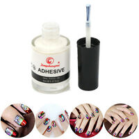 1 Bottle White Glue Adhesive For Galaxy Star Foil Sticker Nail Art Transfer Tips