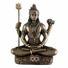 Indian Brass Bronze Lord Shiva Figure Hindu God High Quality Seated Statue 3.4""