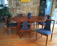 Retro Dining suite.6 Teak Chairs Extendable table Eames Parker Era Chiswell styl