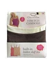 Oscar de La Renta Two Pack Stretch Camisole Ivory & Tan Women's Size S (4-6)