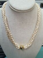 Napier Faux Pearl And Gold Necklace