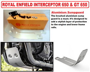 "Royal Enfield Aluminium "" Carter Protection "" Pour Interceptor 650 & Continental"