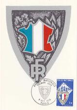 Carte 1 er jour timbrée 1976 POLICE NATIONALE