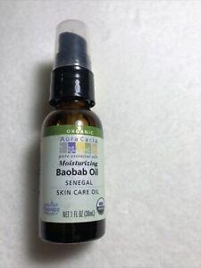 Aura Cacia Pure Baobab Oil 1oz Glass Mister Moisturizer Hair Body Skin Care